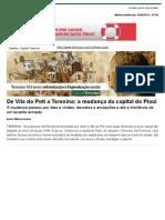 De Vila Do Poti a Teresina_ a Mudança Da Capital Do Piauí - Capital Teresina