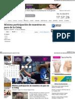 14-10-15 Mínima Participación de Maestros en Paro de La Ceteg