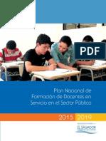 Plan Nacional de Formacion Docente