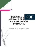 Desarrollo Moral en El Niño de Educación Primaria