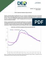 florida unemployment info for September