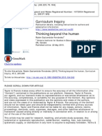 Curriculum Inquiry Thinking Beyond the Human