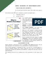 Methods of Dehumidification