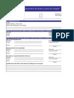 For-SSO-073 Retiro de Tarjeta y Rotura de Candado