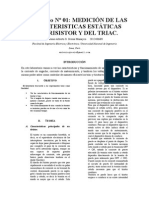 Medicion de Las Caracteristicas Estaticas Del Tiristor y Del Triac