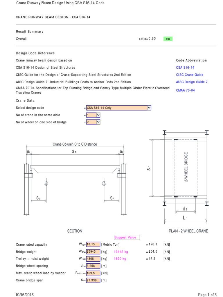 Civilbay Crane Runway Beam Design Crane Machine Runway