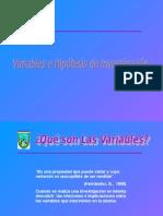 Variables Eh i Pot Es Is