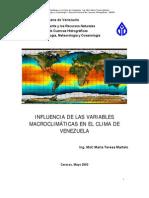 Influencia Variables Macroclimaticas Clima Venezuela