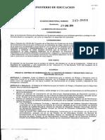 Acdo Ministerial No 247-2014 Crea Sistema Gobernanza en Gestión Riesgo y Desastres Para La Seg Esc y El Art 10 Este Acdo Deroga El Ac m 443 de