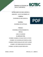 Analisis de Factibilidad Del Software