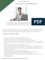 Funciones de Un Asistente Administrativo