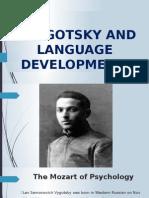 Vygotsky and language development