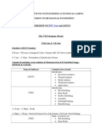 Schedule of CAD Workshop