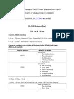 Schedule of CAD Workshop