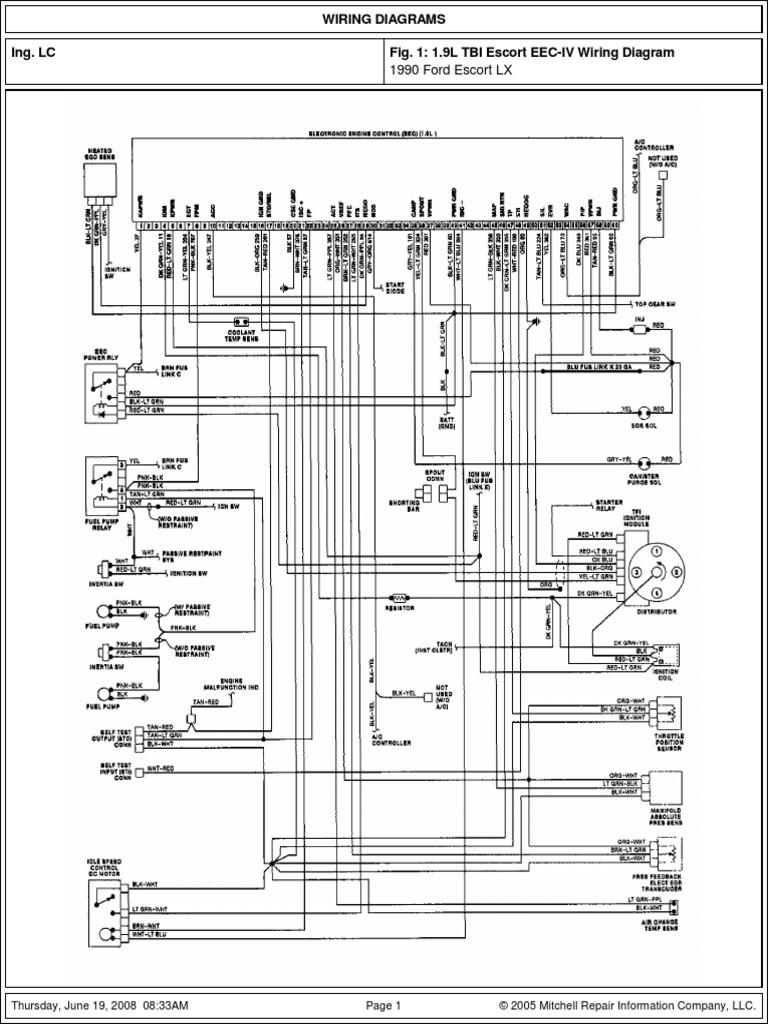 01 - ford iv - 1990 - escort 1.9l tbi - cfi  scribd