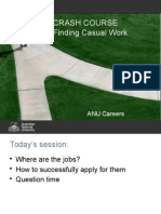 Crash Course Finding Casual Work O Week Sem 2 2015