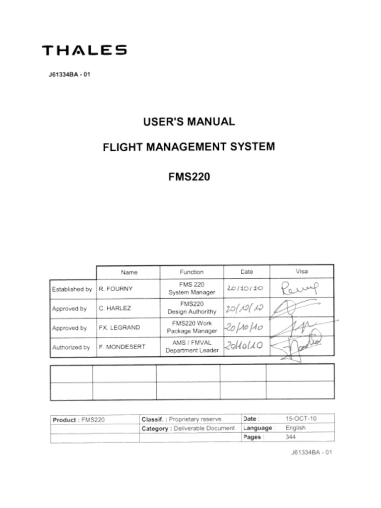 ATR 72) Fms User Guide | Aerospace | Navigation