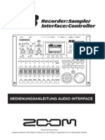 Zoom R8 Bedienungsanleitung Audio-Interface (German)