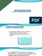 Cristalizacion y Secado