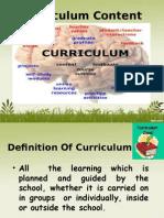 Curriculumcontentcontent