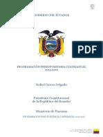 Programacion Presupuestaria Cuatrianual 2013 2016