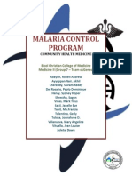 Malaria Control Program (Hard Copy)