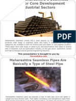 Prefer Maharashtra's Seamless Pipes for Core Development Industrial Sectors