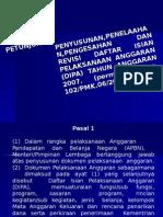 Penyusunan, Revisi, Telaah DIPA