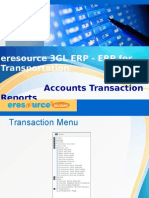 Accounts Transaction Report-eresource3GL ERP(ERP for Transportation)