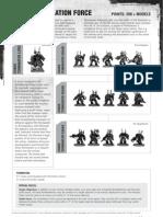 Chaos Space Marines Datasheet - Annihilation Force