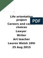 Life Orientation Project