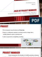 Roles of Project Manager