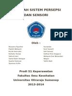 Makalah Sistem Persepsi Dan Sensori Dr.khusmuni