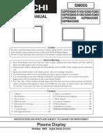 Hitachi PD5000 5200 Series Plasma Service Manual