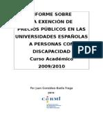 Informe Exención de Precios Públicos UNED ACTUALIZADO a 2009