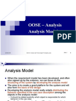 OOSE - Anaysis - Analysis Model
