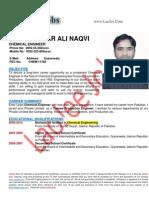 Syed Qanbar Ali Naqvi - Chemical Engineer