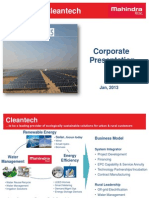 Mahindra Cleantech Overview - Presentation