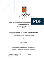 Sample thesis format