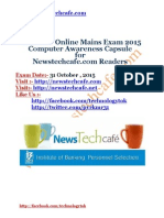 Computer Capsule for IBPS PO 2015 Mains Exam www.newstechcafe.com