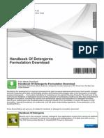 Handbook of Detergents Formulation Download
