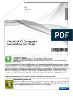 Handbook of Detergents Formulation Download