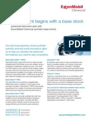 ExxonMobil Chemical Synthetic Base Stocks | Polyolefin