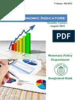 Bangladesh Major Economic Indicators August 2015