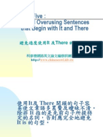 Conciseness 05:Avoid Overusing Sentences that Begin with It and There