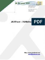JAXFront XUIEditor Manual V2