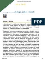 Dialogo Scienze-teologia, Metodo e Modelli _ DISF