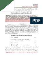Mhd Flow of A Non-Newtonian Fluid Through A Circular Tube
