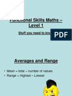 Functional Skills Maths – Level 1