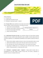 Grafomotricidade - Componente Motora Do Acto Da Escrita